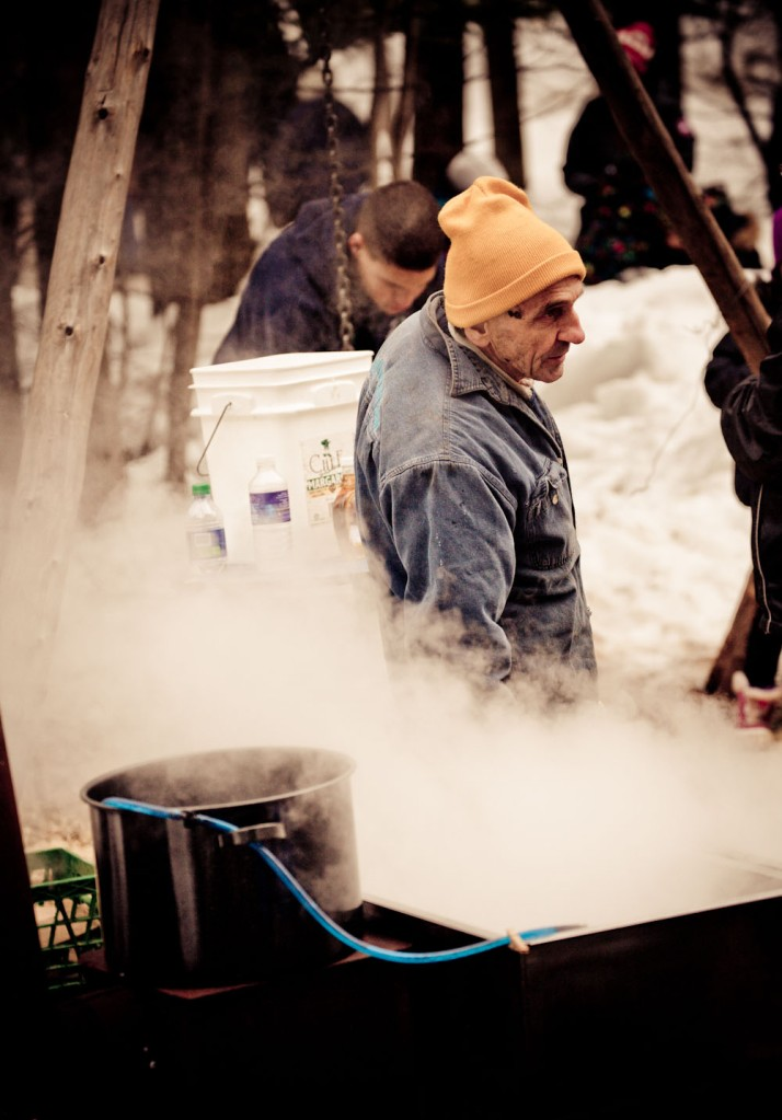 Boiling the sap from the Maple tree
