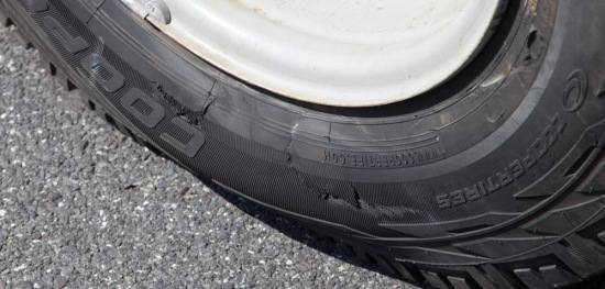 A blown tire… day 2… good start :)
