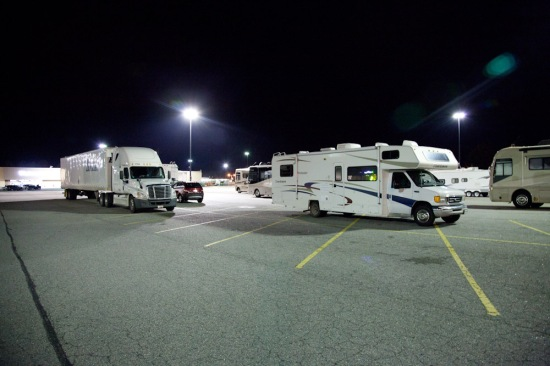 Our 2nd night at a Walmart, with fellow RV'ers