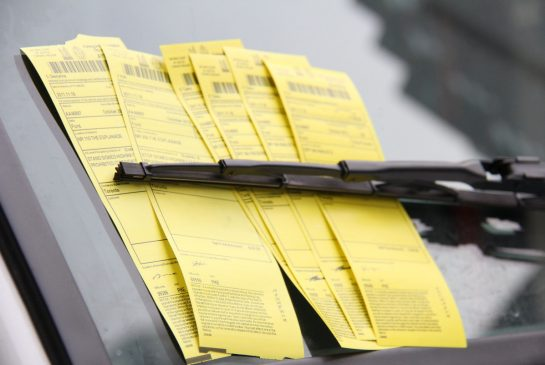 Sample parking tickets